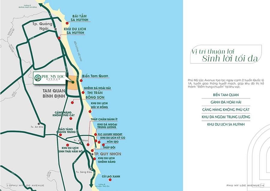 Bình Định – Quy hoạch mở Hoài Nhơn về hướng biển